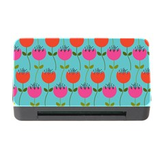 Tulips Floral Background Pattern Memory Card Reader With Cf by Simbadda