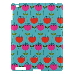 Tulips Floral Background Pattern Apple Ipad 3/4 Hardshell Case by Simbadda