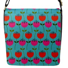 Tulips Floral Background Pattern Flap Messenger Bag (s) by Simbadda