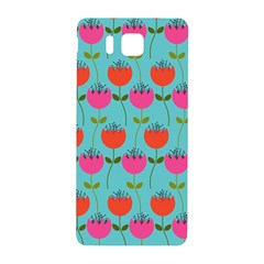 Tulips Floral Background Pattern Samsung Galaxy Alpha Hardshell Back Case by Simbadda