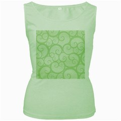 Pattern Women s Green Tank Top