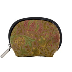 Floral Pattern Accessory Pouches (small)  by Valentinaart