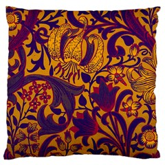 Floral Pattern Large Flano Cushion Case (two Sides) by Valentinaart