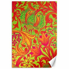 Floral Pattern Canvas 20  X 30   by Valentinaart