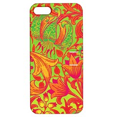 Floral Pattern Apple Iphone 5 Hardshell Case With Stand by Valentinaart