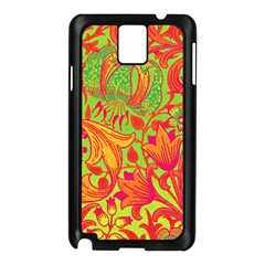 Floral Pattern Samsung Galaxy Note 3 N9005 Case (black) by Valentinaart