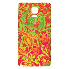 Floral Pattern Galaxy Note 4 Back Case by Valentinaart