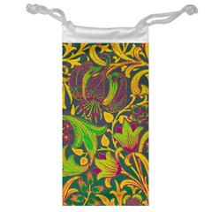 Floral Pattern Jewelry Bag by Valentinaart