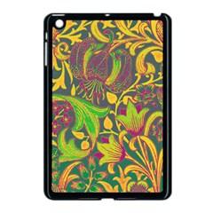 Floral Pattern Apple Ipad Mini Case (black) by Valentinaart