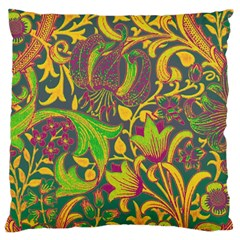 Floral Pattern Standard Flano Cushion Case (one Side) by Valentinaart
