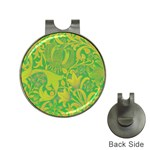 Floral pattern Hat Clips with Golf Markers Front