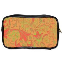 Floral Pattern Toiletries Bags 2 Side by Valentinaart