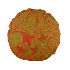 Floral Pattern Standard 15  Premium Round Cushions by Valentinaart