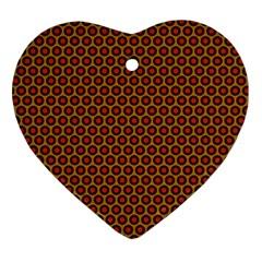 Lunares Pattern Circle Abstract Pattern Background Ornament (heart) by Simbadda