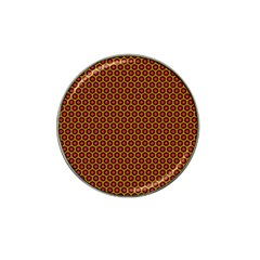 Lunares Pattern Circle Abstract Pattern Background Hat Clip Ball Marker (4 Pack) by Simbadda