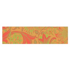 Floral Pattern Satin Scarf (oblong) by Valentinaart