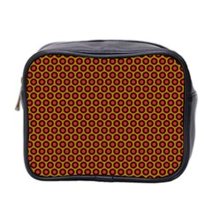 Lunares Pattern Circle Abstract Pattern Background Mini Toiletries Bag 2 Side by Simbadda