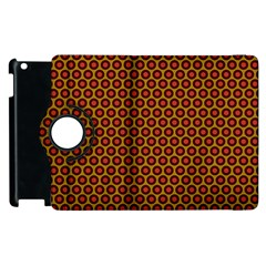 Lunares Pattern Circle Abstract Pattern Background Apple Ipad 2 Flip 360 Case by Simbadda