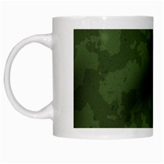 Vintage Camouflage Military Swatch Old Army Background White Mugs by Simbadda