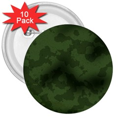 Vintage Camouflage Military Swatch Old Army Background 3  Buttons (10 Pack)  by Simbadda