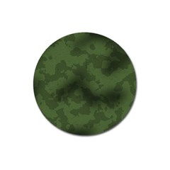 Vintage Camouflage Military Swatch Old Army Background Magnet 3  (round) by Simbadda
