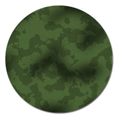 Vintage Camouflage Military Swatch Old Army Background Magnet 5  (round) by Simbadda