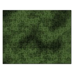 Vintage Camouflage Military Swatch Old Army Background Rectangular Jigsaw Puzzl by Simbadda