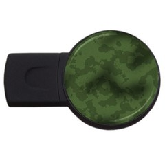 Vintage Camouflage Military Swatch Old Army Background Usb Flash Drive Round (4 Gb) by Simbadda