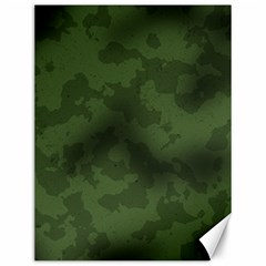 Vintage Camouflage Military Swatch Old Army Background Canvas 12  X 16   by Simbadda