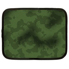 Vintage Camouflage Military Swatch Old Army Background Netbook Case (xl)  by Simbadda