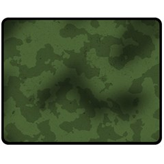 Vintage Camouflage Military Swatch Old Army Background Fleece Blanket (medium)  by Simbadda
