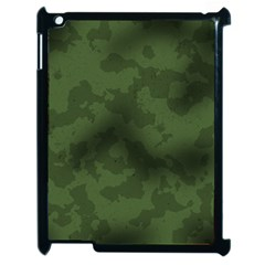 Vintage Camouflage Military Swatch Old Army Background Apple Ipad 2 Case (black) by Simbadda