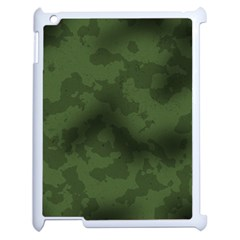 Vintage Camouflage Military Swatch Old Army Background Apple Ipad 2 Case (white) by Simbadda