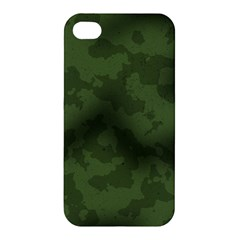 Vintage Camouflage Military Swatch Old Army Background Apple Iphone 4/4s Hardshell Case by Simbadda