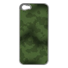 Vintage Camouflage Military Swatch Old Army Background Apple Iphone 5 Case (silver) by Simbadda
