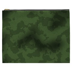 Vintage Camouflage Military Swatch Old Army Background Cosmetic Bag (xxxl)  by Simbadda