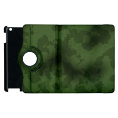 Vintage Camouflage Military Swatch Old Army Background Apple Ipad 2 Flip 360 Case by Simbadda