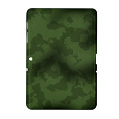 Vintage Camouflage Military Swatch Old Army Background Samsung Galaxy Tab 2 (10 1 ) P5100 Hardshell Case  by Simbadda