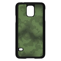 Vintage Camouflage Military Swatch Old Army Background Samsung Galaxy S5 Case (black) by Simbadda