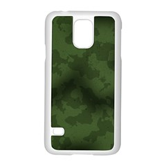 Vintage Camouflage Military Swatch Old Army Background Samsung Galaxy S5 Case (white) by Simbadda
