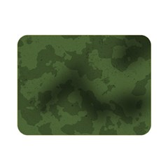 Vintage Camouflage Military Swatch Old Army Background Double Sided Flano Blanket (mini)  by Simbadda