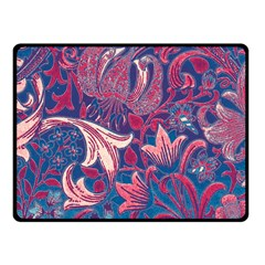 Floral Pattern Double Sided Fleece Blanket (small)  by Valentinaart
