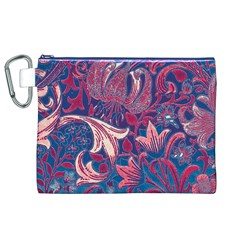 Floral Pattern Canvas Cosmetic Bag (xl) by Valentinaart