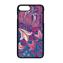 Floral pattern Apple iPhone 7 Plus Seamless Case (Black) by Valentinaart