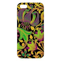 Floral Pattern Iphone 5s/ Se Premium Hardshell Case by Valentinaart