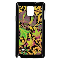 Floral Pattern Samsung Galaxy Note 4 Case (black) by Valentinaart
