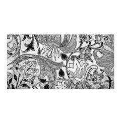Floral Pattern Satin Wrap by Valentinaart