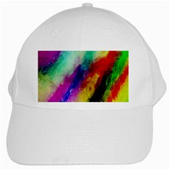 Colorful Abstract Paint Splats Background White Cap by Simbadda