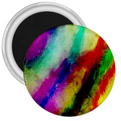Colorful Abstract Paint Splats Background 3  Magnets by Simbadda