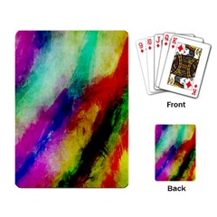 Colorful Abstract Paint Splats Background Playing Card by Simbadda